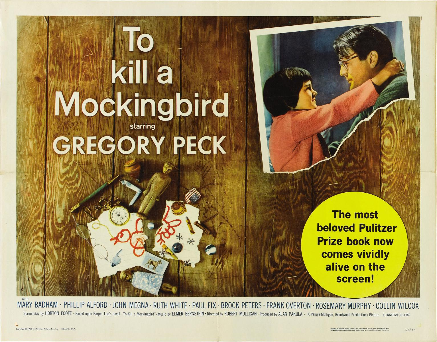 "Matar a un ruiseñor (""To kill a mockingbird""). Robert Mulligan, 1962."