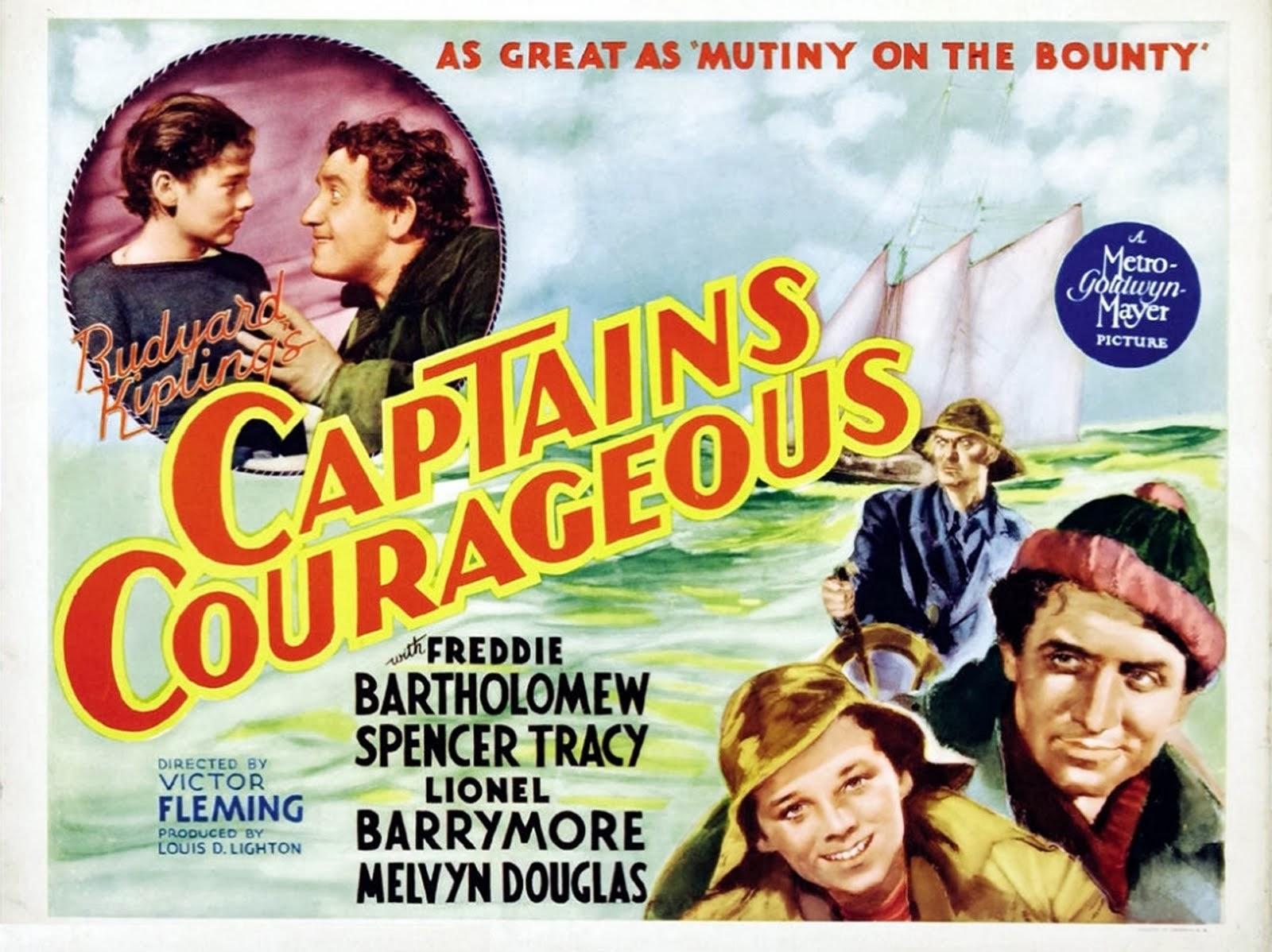 """Capitanes intrépidos (""""Captains courageous""""). Victor Fleming, 1937."""